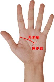 手相 知能線 障害線