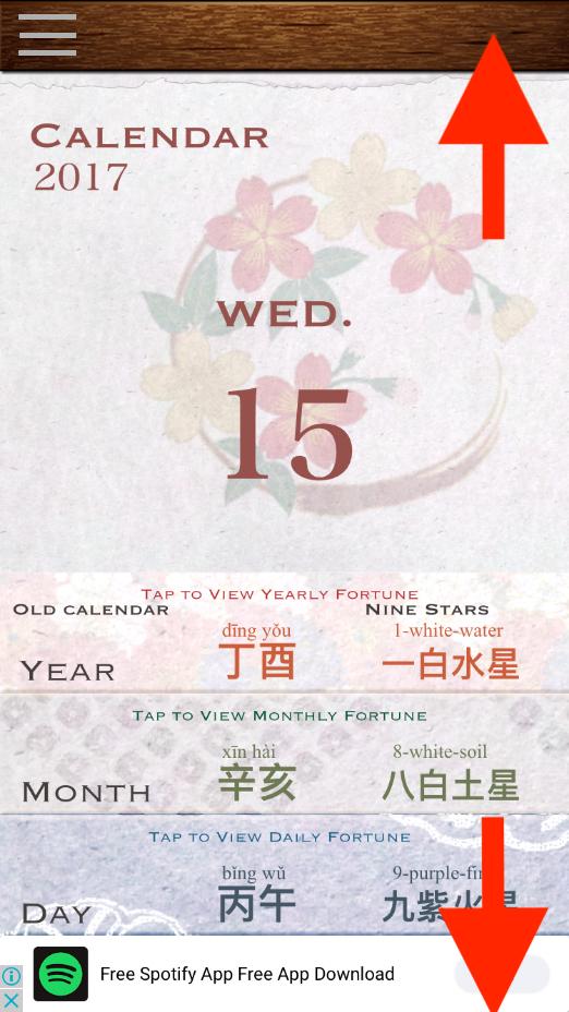 free feng shui calendar app